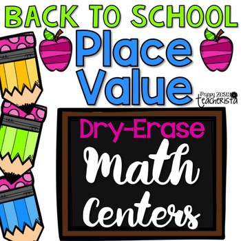 Place Value Write on Wipe Off Math Centers