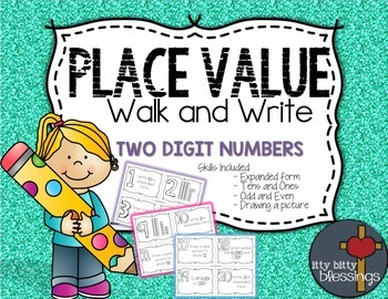 Place Value Write the Room, Scoot - Two Digit Numbers