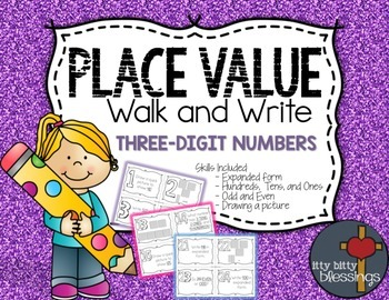 Place Value Write the Room, Scoot - Three Digit Numbers