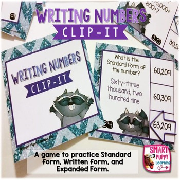 Place Value Writing Numbers in Different Forms  Clip It Ca