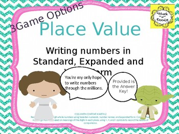 Place Value Writing and Reading Numbers in Standard, Expanded and Word Forms