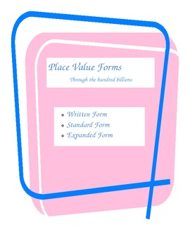 Place Value: Written Form, Standard Form, Expanded Form