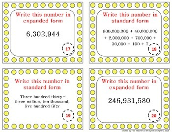 Place Value- Written, Standard and Expanded Form