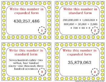 Place Value - Written , Standard and Expanded Form