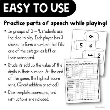 Place Value Yahtzy Dice Game Grades 3 - 4