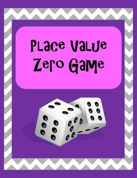 Place Value Zero Game