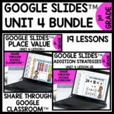 Place Value and Addition and Subtraction to 40 Using Google Slides BUNDLE Unit 4
