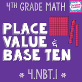 Place Value and Base Ten System Math Unit