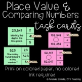 Place Value and Comparing Numbers Task Cards