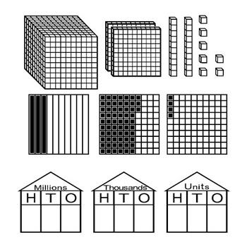 place value and decimals fonts base 10 blocks houses decimal models. Black Bedroom Furniture Sets. Home Design Ideas