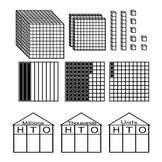 Place Value and Decimals Fonts -  Base 10 blocks, Houses, Decimal Models