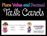 Place Value and Decimal Task Cards
