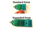 Place Value and Expanded Form Snakes: Tens Place
