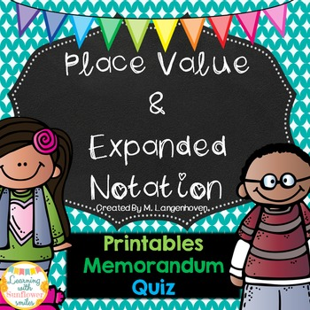 Place Value and Expanded Notation