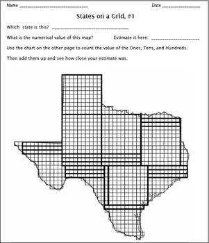 Place Value and Maps:  Continents and States on a Grid