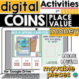 Place Value and Money Google Classroom Activity  DISTANCE