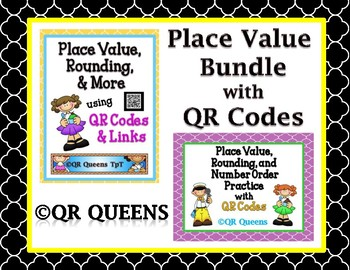 Place Value and More BUNDLE using QR Codes