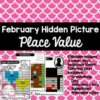 Place Value Mystery Pictures - February Edition
