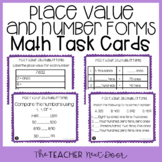 4th Grade Place Value and Number Forms Task Cards | Place