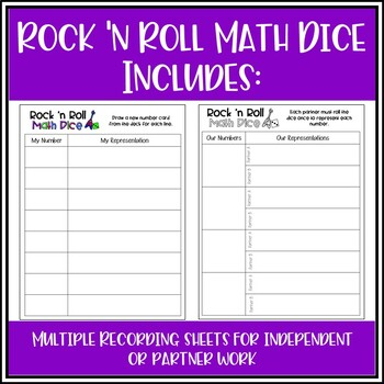 Place Value and Number Representations: Rock 'n Roll Math Dice Game