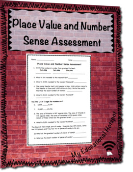Place Value and Number Sense Assessment