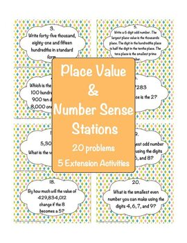 Place Value and Number Sense Stations