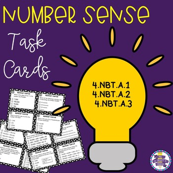 Place Value and Number Sense Task Cards {CCSS 4.NBT.A}