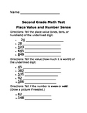 Place Value and Number Sense Test Second Grade Math