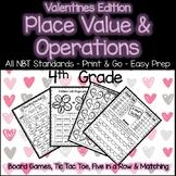 Place Value and Operation Games 4th Grade 4.NBT.1 4.NBT.2 4.NBT.4 4.NBT.5