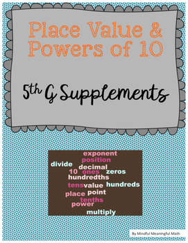 Place Value & Powers of 10 Activities and Practice Sheets
