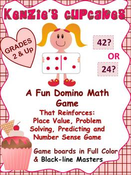 Place Value and Predicting Number Sense Math Game: Kenzie'