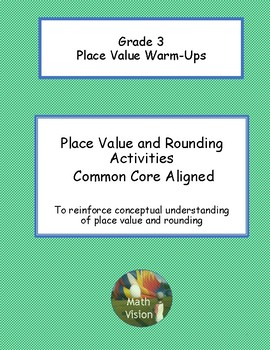Place Value and Rounding Activities - Grade 3