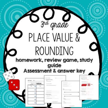 Place Value and Rounding Activity and Assessment - Editable!!