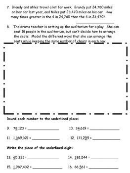 Place Value and Rounding Assessments-MCC4.NBT.1 MCC4.NBT.2 MCC4.NBT.3 MCC4.NBT.4