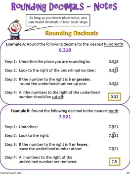 Place Value and Rounding (Bundled Unit)