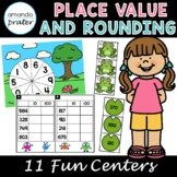 Place Value and Rounding Centers, Third Grade Math Centers