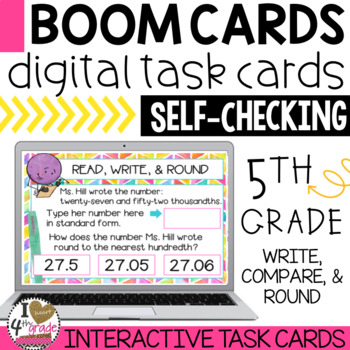 Place Value and Rounding Decimals Boom Cards