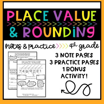 Place Value and Rounding Doodle Notes