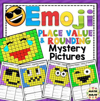 Place Value and Rounding Emoji Mystery Pictures