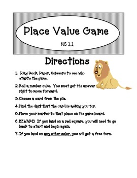 Place Value and Rounding Game