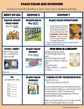 Place Value and Rounding Hyperdoc