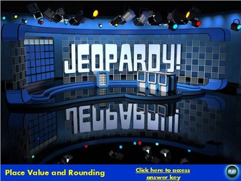 Place Value and Rounding Jeopardy