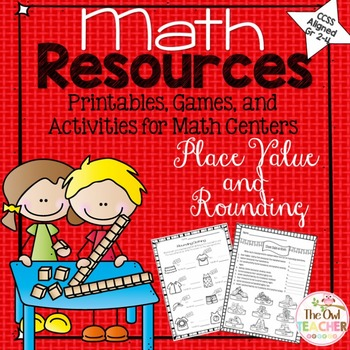 Place Value and Rounding Printables, Games, and Activities for Math Centers