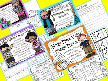 Place Value and Rounding Math Stations