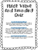 Place Value and Rounding Quiz