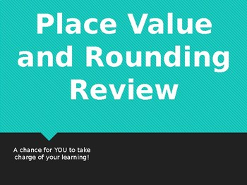 Place Value and Rounding Review