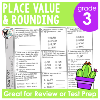 Place Value and Rounding Review and Test Prep