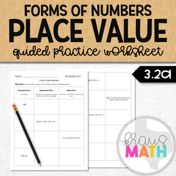 Place Value Forms of Numbers: Guided Practice (Grade 3)