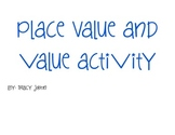 Place Value and Value Activity