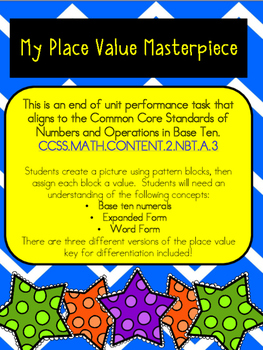 Place Value and Word Problem Performance Task